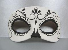 Jour du tourbillon de mort noir et blanc en cuir masque, unisexe