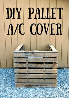 How To Build Your Own Pallet AC Cover - Pallet Projects - 150 Easy Ways to Build Pallet Projects - DIY & Crafts