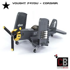 LEGO_Custom_WW2_Warplane_Vought_F4You_Corsair_CB02   by LA-Design2012