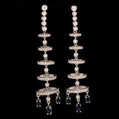 Shop 18KWG Dia Rds 2.0tcw and Sapp Marq 2.00tcw Chandelier Earrings and other jewelry, art, coins, rugs and real estate at www.aantv.com
