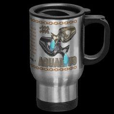 Valxart's 1970 2030 MetalDog zodiac born Aquarius Coffee Mug by ValxArt.com