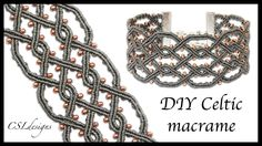 Twisted celtic micro macrame bracelet