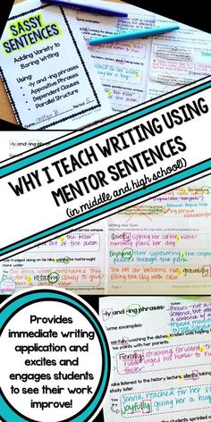 Improve student writing and grammar without boring drills! Engage students and have fun while increasing writing sophistication with Mentor Sentences,