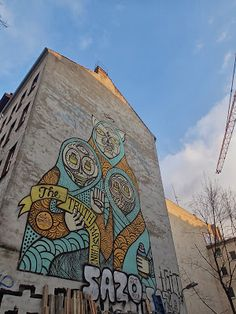 SuperBlast is a German street artist and graphic designer best known for his cyan blue skull-faced icons combined with religious symbols. Berlin, Cyan Blue, Religious Symbols, Street Artists, Urban Art, 2d, Graffiti, Graphic Design, Street Art