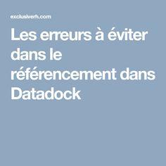 Les erreurs à éviter dans le référencement dans Datadock