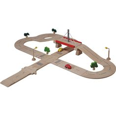 Wooden road set.  My students can't get enough of these, if given enough pieces, the roads can take over the classroom.