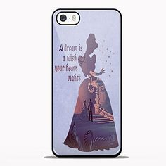 Cinderella Dream Quote Design for Samsung Galaxy and Iphone Case (iPhone 5/5S black)