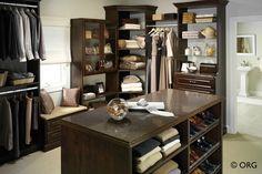Walk-in closet. HomeORG.com