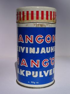 Hangon leivinjauhe by edsel, via Flickr Vintage Packaging, Coffee Cans, Product Design, Finland, Nostalgia, Traditional, History, Retro, Food