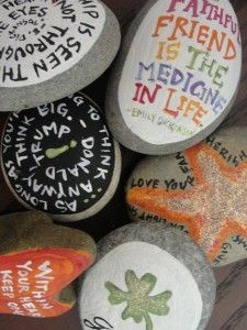 Painted rocks/with quotes