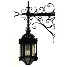 wrought iron + lantern
