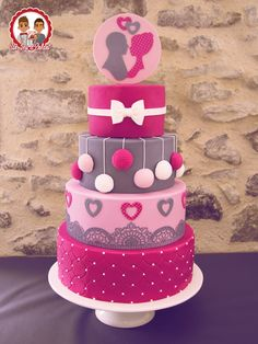 Pink Wedding Cake - Un Jeu d'Enfant , Cake design - Nantes