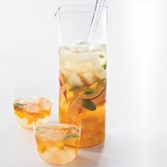 Celebrity chef John Besh's lightly sweet, mango-peach sangria recipe features aromatic white wine like Viognier, which balances the fruit and acidity.