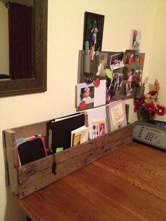 Custom made Pallet Shelf. $24.00, via Etsy.