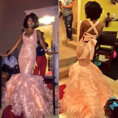 The ribbon with a poofy bottom 😍😍😭 Stunning Prom Dresses, Cute Dresses, Beautiful Dresses, Prom Outfits, Homecoming Dresses, Dress Prom, Grey Evening Dresses, Prom Couples, Black Prom