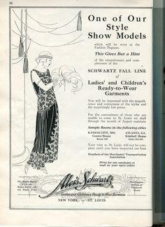 #1920s #flapper #illustration #ad #VintageAd #stl #stlouis #fashion #fashiondesign #readytowear #pretaporter #history #fashionhistory