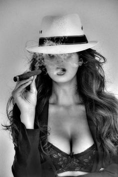 Most of us will agree that there is a particular allure of a woman smoking a cigar! Women smoking cigars might be a less common sight than men. Cigars And Women, Women Smoking Cigars, Smoking Ladies, Cigar Smoking, Girl Smoking, Women Smoking Cigarettes, Good Cigars, Cigars And Whiskey, Cigar Art