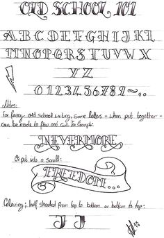 Old school writing 101 by Nevermore-Ink.deviantart.com on @deviantART