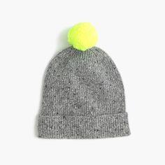 crewcuts Boys Speckled Donegal Wool Beanie Hat (Size L-XL Kid)