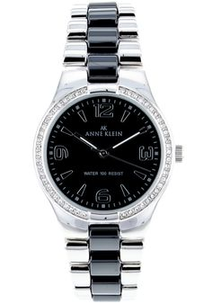 Price:$65.50 #watches Anne Klein 10-9119BKSV, Ceramic case, Ceramic bracelet, Black dial, Quartz movement, Scratch-resistant mineral, Water resistant up to 5 ATM-50 Meters-165 feet. Mineral Water, Anne Klein, Rolex Watches, Quartz, Ceramics, Bracelets, Accessories, Black, Ceramica
