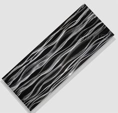 Abstract modern wall decor silver Black art painting von luboart