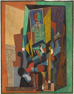 Pablo Picasso | Man with a Guitar 1915-16| The Met