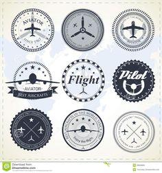 vintage aviation logos - Google Search                                                                                                                                                                                 More