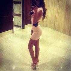 Beautiful dress and legs