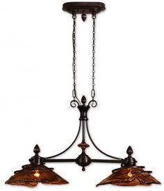Vitalia 2-Light Kitchen - Chandelier - Ceiling Fixtures - Lighting | HomeDecorators.com