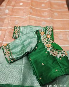 Uppada saree with handwork designer blouse whatsapp 9047090885 tanvika sarees - Her Crochet New Saree Blouse Designs, Cutwork Blouse Designs, Best Blouse Designs, Simple Blouse Designs, Stylish Blouse Design, Bridal Blouse Designs, Designer Blouse Patterns, Raw Mango Sarees, Kota Sarees