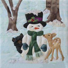 Snow Buds Truly McKenna Art Fabric Panel Print by McKenna Ryan Melt Down
