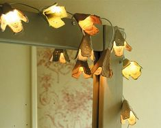 Home-Dzine - Recycle egg cartons to make these dainty fairy lights for decorating a bedroom or around a mirror