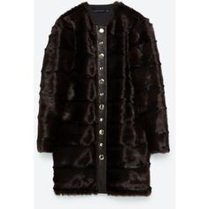 LONG FAUX FUR COAT - View all-OUTERWEAR-WOMAN | ZARA United States ($50) ❤ liked on Polyvore featuring outerwear and coats