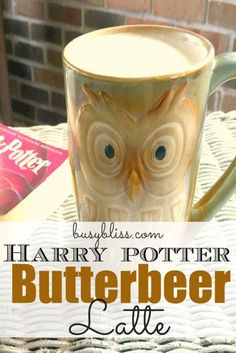 I can't wait to try this Butterbeer Latte recipe! I've ordered the new book, Harry Potter and the Cursed Child and will be sipping a Butterbeer while I read it!