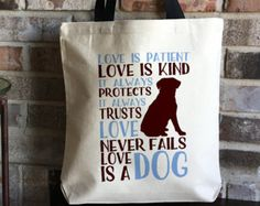 People who rescue animals have special hearts and souls. They feel for all living beings, and make sacrifices to save lives every day. They may be called cat lady or dog lady or cat mom or dog mom, and they are ok with all of those! Celebrate the happiness that comes with rescuing an animal!  The purchase of this listing is for one large canvas tote bag with the following specifications: Measurements: 14.5 x 14.5 inches with a 9.5 inch handle drop  Neutral Canvas Color, Black Handles  Quote…