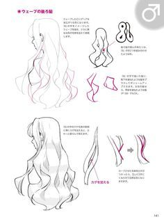Drawing Hair Tutorial, Manga Drawing Tutorials, Drawing Techniques, Drawing Tips, Hand Drawing Reference, Drawing Reference Poses, Anatomy Reference, Digital Painting Tutorials, Digital Art Tutorial