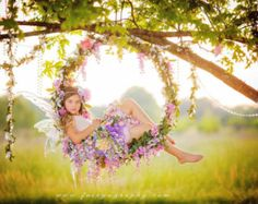 Building a flower circle swing is easy! When I built my original hoop swing for a photo shoot…