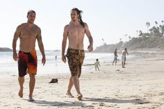 Pin for Later: The Hottest Shirtless Guys in Movies Aaron Taylor-Johnson and Taylor Kitsch, Savages Ben (Taylor-Johnson) makes up for his ridiculous hairstyle by showing off a bangin' bod.
