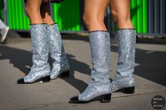 Paris SS 2018 Street Style: Chanel boots