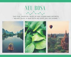 The tropical isles of Neu Bosa exist in the oceans to the west of Sandair and Hartnor and are home to the Neu Bosan, a cheerful group of people who have invented their own steam powered technology.
