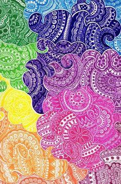 Resultado de imagen para sharpie art on paper color