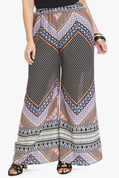Plus Size Scarf Print Palazzo Pant | Fashion To Figure