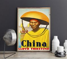 China Travel Poster Chinese Wall Art Chinese Poster Chinese Decor Chinese Vintage Art Chinese Art Print China Poster China Print China Art by WallBuddy on Etsy