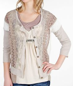 BKE Boutique Pieced Cardigan Sweater - Women's Cardigans | Buckle