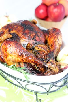 Paleo Maple Glazed Spicy Apple Roasted Turkey | by Sonia! The Healthy Foodie