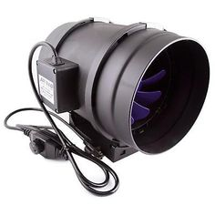 Inline Duct Fan Ventilation 8in Cooling Blower Air Built-in Speed Controller New