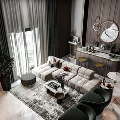 Interior Design And Graphic Design, Home Interior Design, Architecture Board, Interior Architecture, Living Room Interior, Luxury Interior, Modern Luxury, Living Room Designs, New Homes