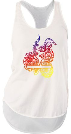 Gymnastics Beam Doodle Bella Women's Flowy Racerback Tank – Purposely Designed