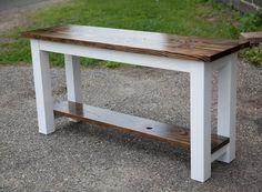 Farmhouse Sofa Table, Rustic Sofa Tables, Wood Sofa Table, Solid Wood Table, Farmhouse Furniture, Wood Furniture, Entryway Tables, Buffet Tables, Entry Table Diy