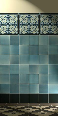 Golem - art nouveau tile